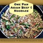 One Pan Asian Beef and Noodles