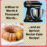 A Mixer Is Worth A Thousand Words {Apricot Nectar Cake Recipe}