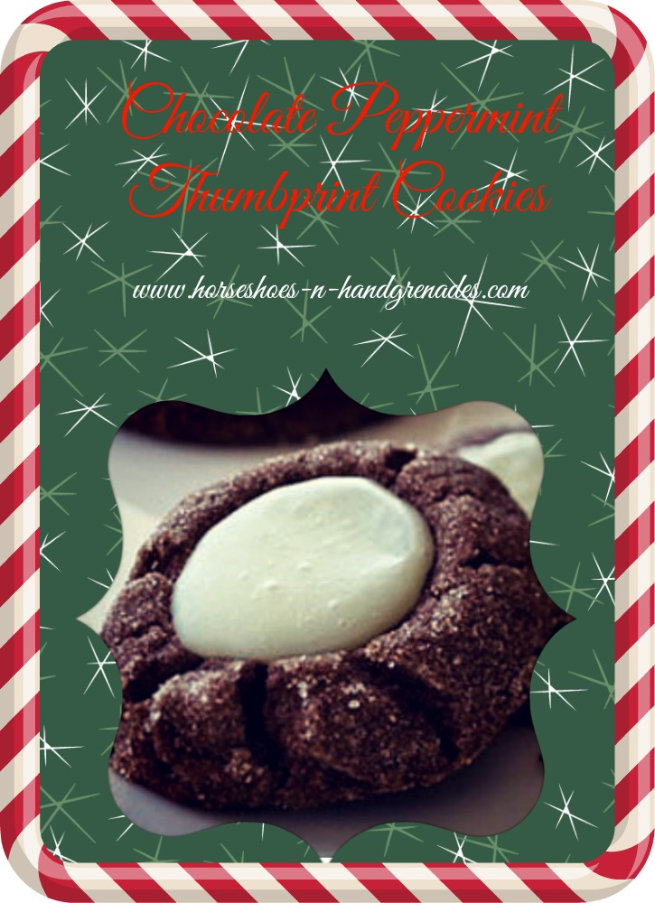 Chocolate PeppermintThumbprintCookie