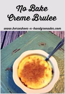 Easy No Bake Creme Brulee