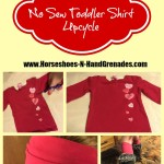 No Sew Toddler Shirt Upcycle: Hair Wrap & Leg Warmers