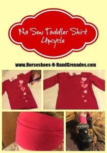 No Sew Toddler Shirt Upcycle: Hair Wrap & Leg Warmers
