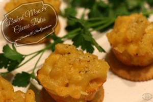 Game Day Appetizer: Baked Mac & Cheese Bites