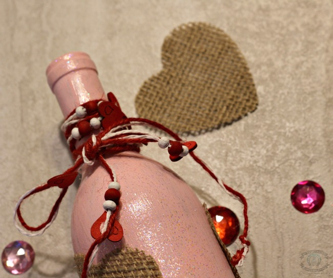 Embellished Wine Bottle Upcycle
