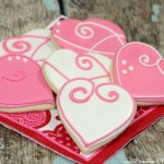Valentine's Heart Sugar Cookies With Royal Icing