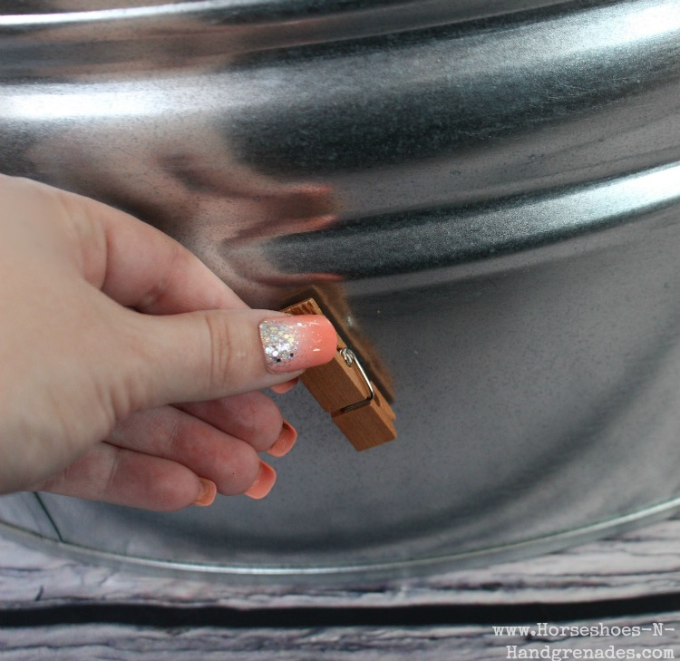 Attach Magnetized Clothespin to Metal Bucket