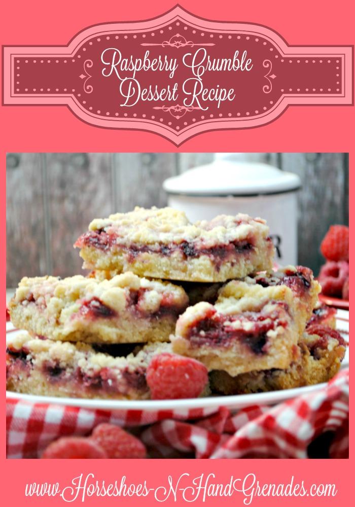 Raspberry Crumble Dessert Recipe