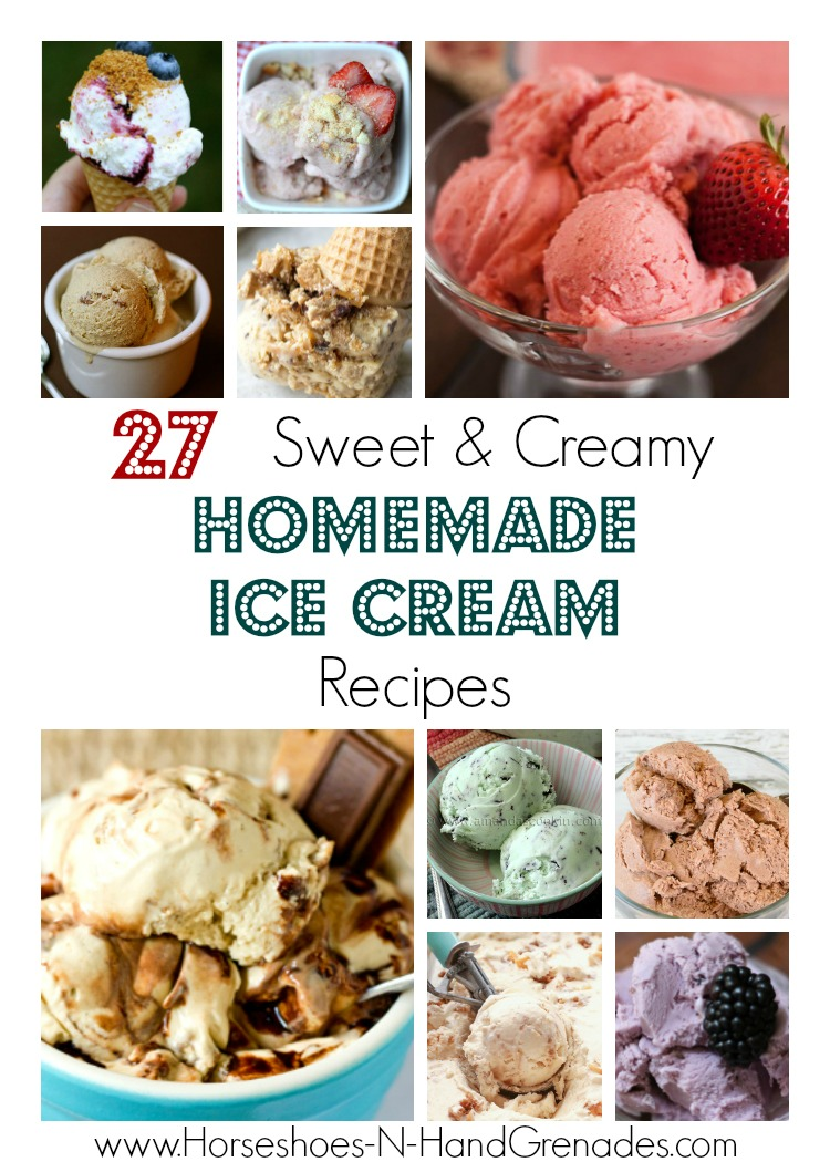 27 Sweet & Creamy Homemade Ice Cream Recipes - Titled