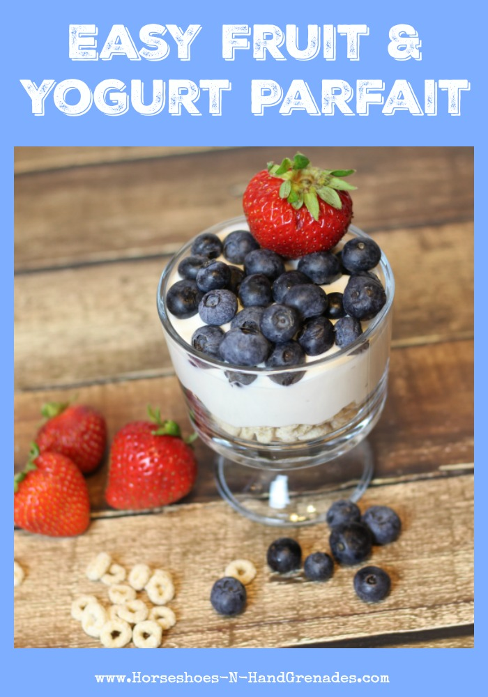 easy fruit and yogurt parfait