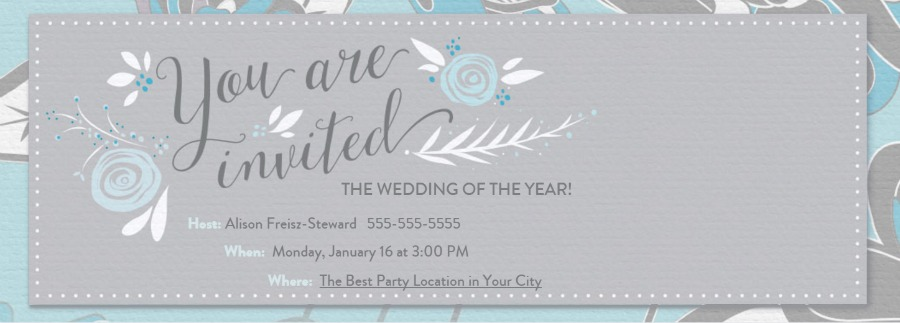 Evite Invitation Sample