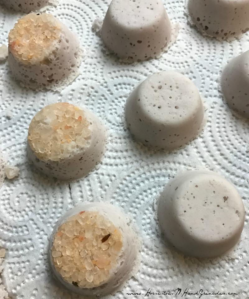 Bath Bombs - Tap out of mini muffin tin