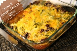 Fill Up On Memories This Holiday Season: Sausage and Asparagus Crustless Quiche